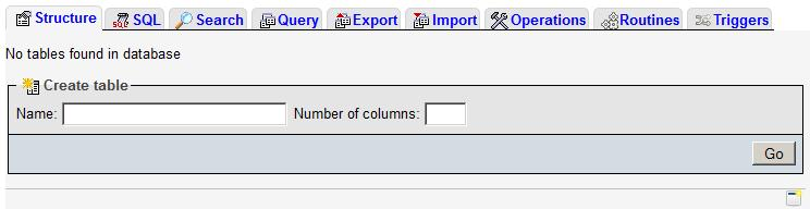 Importing an SQL dump.