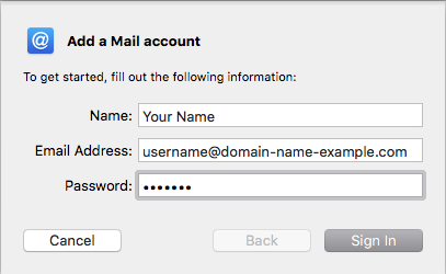 Apple Mail for Mac OS X 10 13 (IMAP & SMTP over SSL