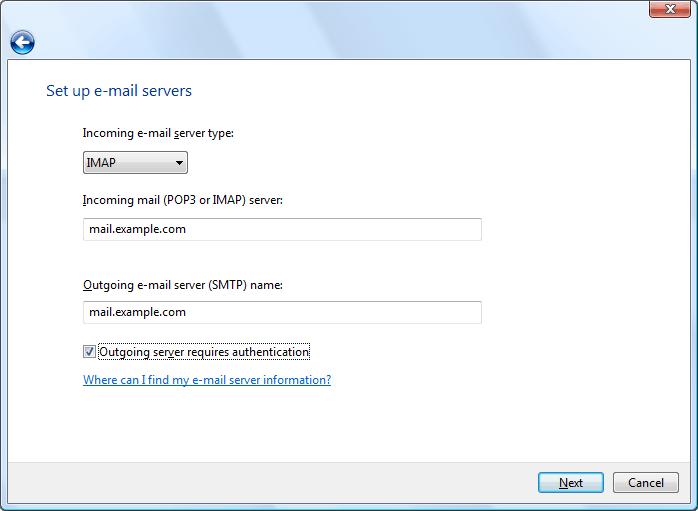 Set up e-mail servers
