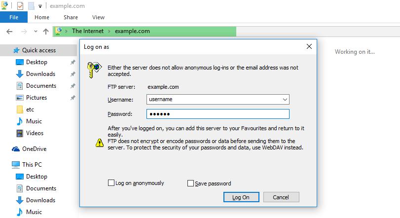 Потребител и парола