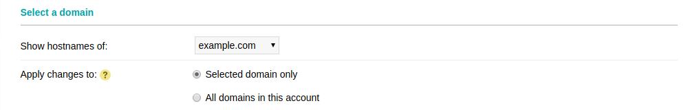 Select a domain